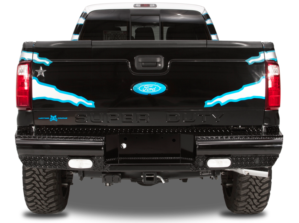 Black Steel Rear Bumper