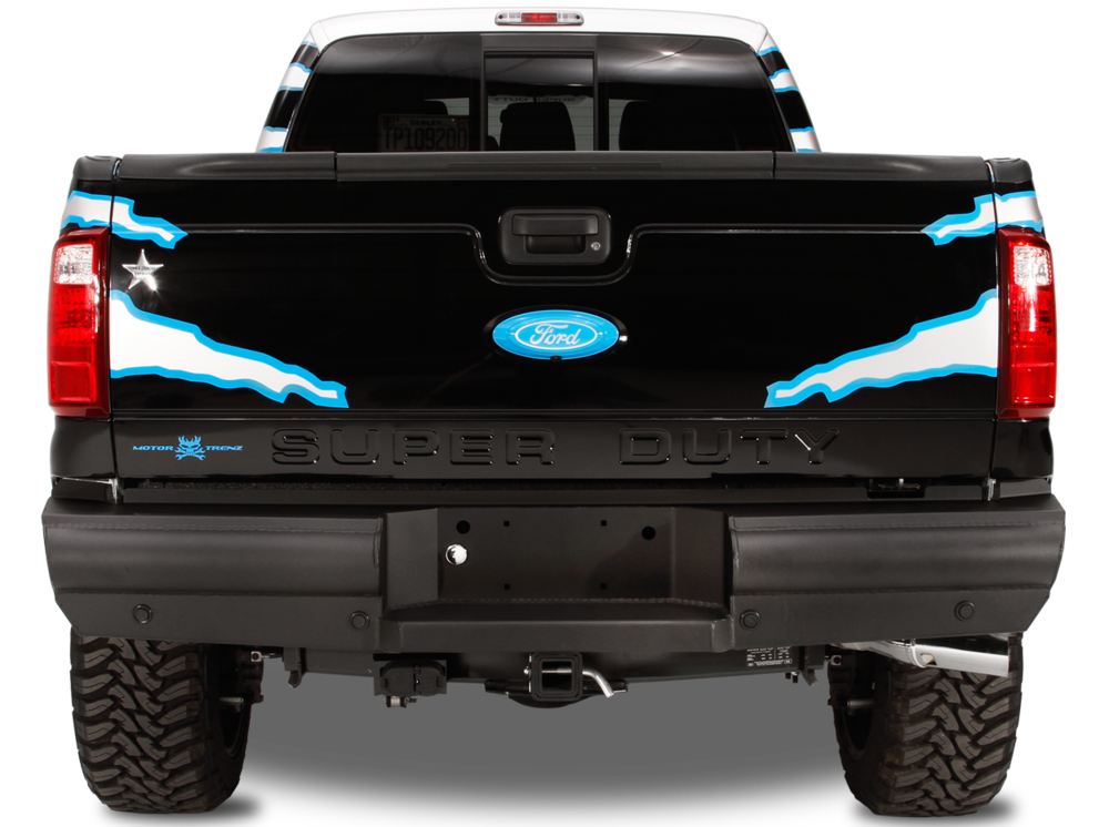 Black Steel Elite Rear Bumper