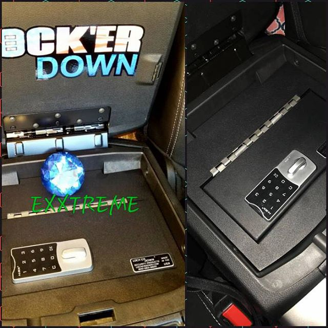 We are excited to be an authorized dealer for @lockerdown_usa products. Their console safes & locking storage options are the best. Now available at all three @texashitch locations. ••••••••••••••••••••••••••••• #THTbuilt #THToffroad #notjusthitches #truckaccessories #lockerdown #consolesafes #gunstorage #austin #sanantonio #texas