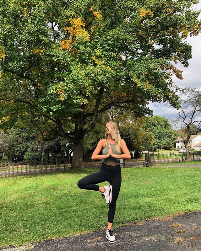 #TREEPOSETUESDAY 🍁 Send us your #vrksasana pics in front of your favorite fall tree! We want to see how the leaves change over the next several weeks 🍂
