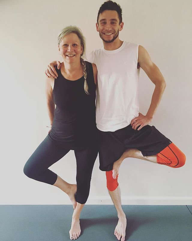 #treeposetuesday with our favorite mother-son yogi team Colin and Rene 🌳