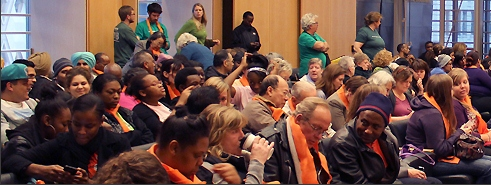 Supporters for the 2012 City of Seattle Human Services Budget.