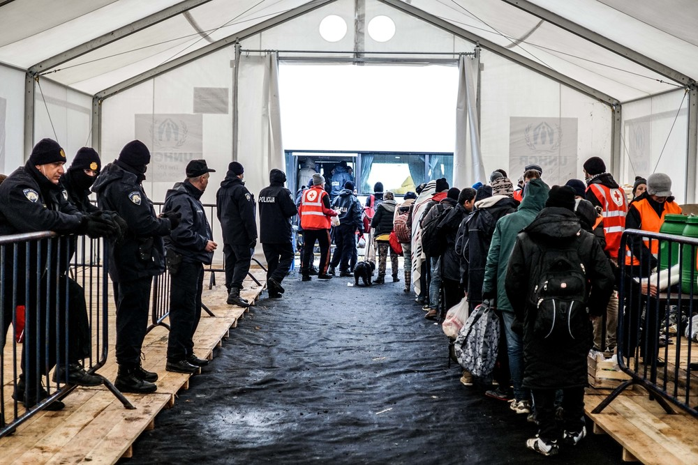 Syrian Refugee Crisis Croatia Slavonski Brod Winter Refugee Camp November 2015 20.jpg