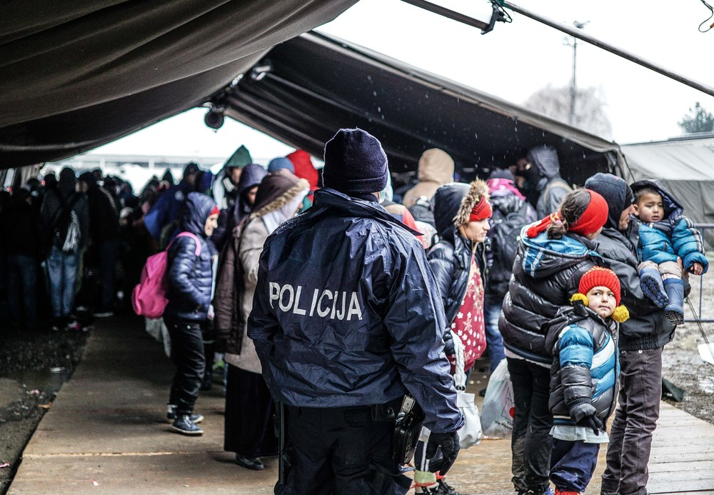 Syrian Refugee Crisis Croatia Slavonski Brod Winter Refugee Camp November 2015 10.jpg