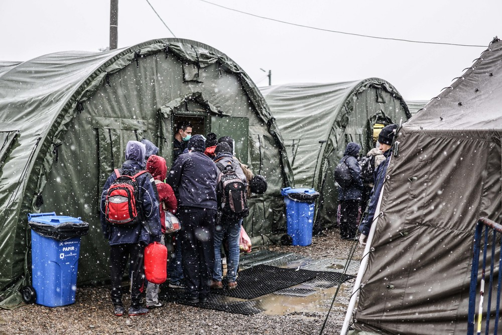 Syrian Refugee Crisis Croatia Slavonski Brod Winter Refugee Camp November 2015 1.jpg
