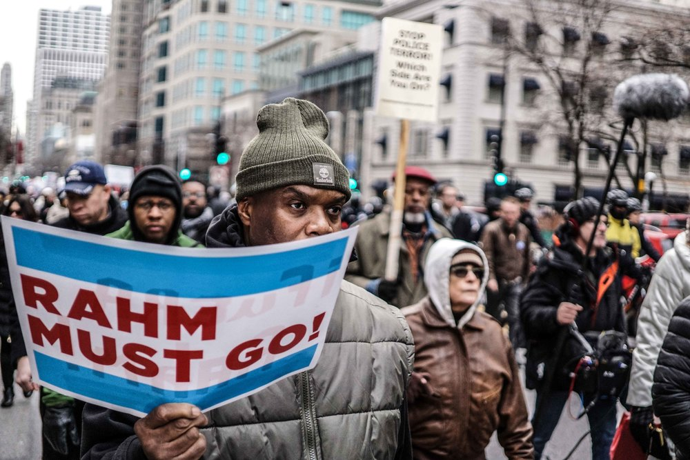 Laquan Mcdonald Protest Resign Rahm Christmas Eve December 2015 Harrison Bruhn 24.jpg