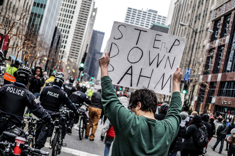 Laquan Mcdonald Protest Resign Rahm Christmas Eve December 2015 Harrison Bruhn 23.jpg
