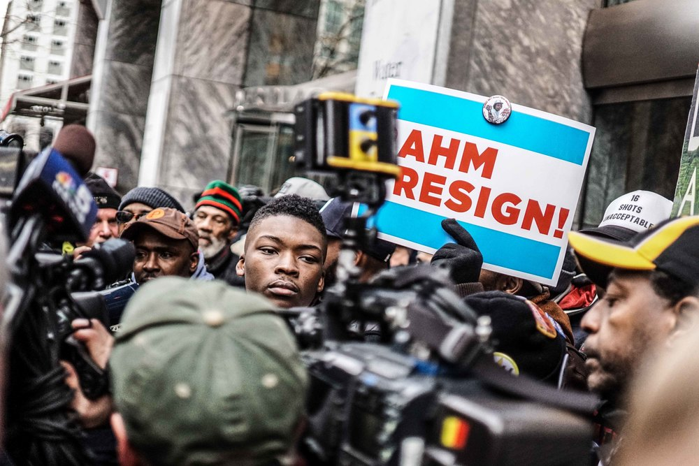 Laquan Mcdonald Protest Resign Rahm Christmas Eve December 2015 Harrison Bruhn 20.jpg