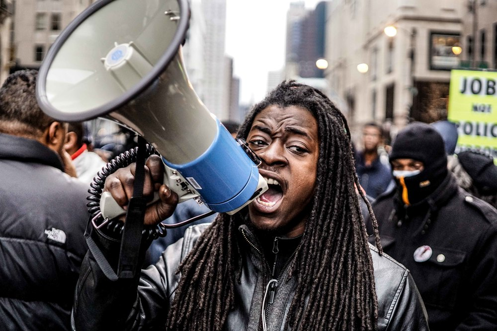 Laquan Mcdonald Protest Resign Rahm Christmas Eve December 2015 11.jpg