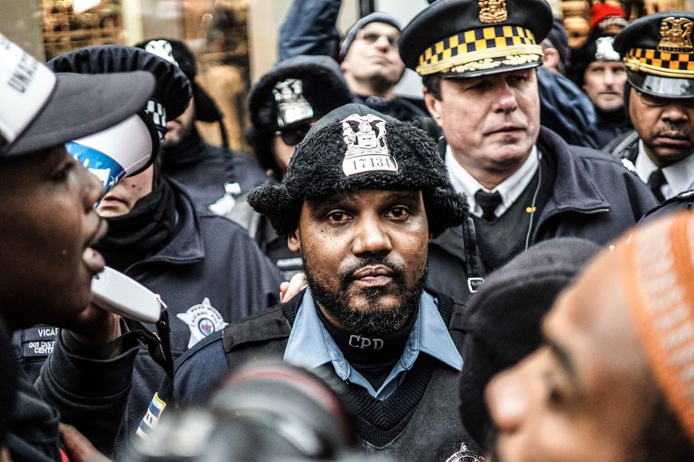 Laquan Mcdonald Protest Resign Rahm Christmas Eve December 2015 7.jpg