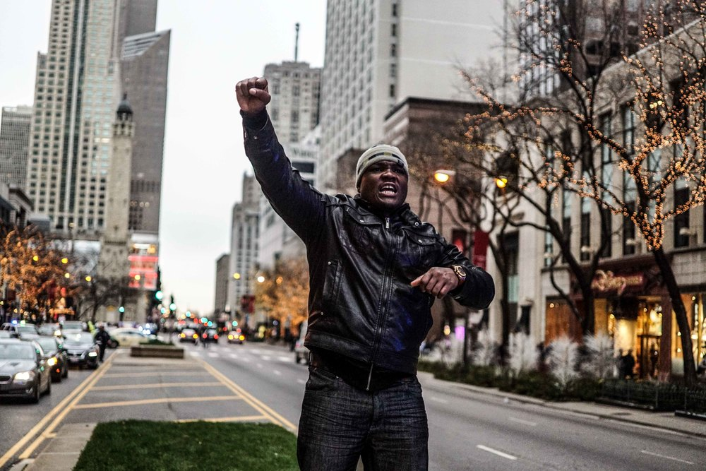 Laquan Mcdonald Protest Resign Rahm Christmas Eve December 2015 6.jpg