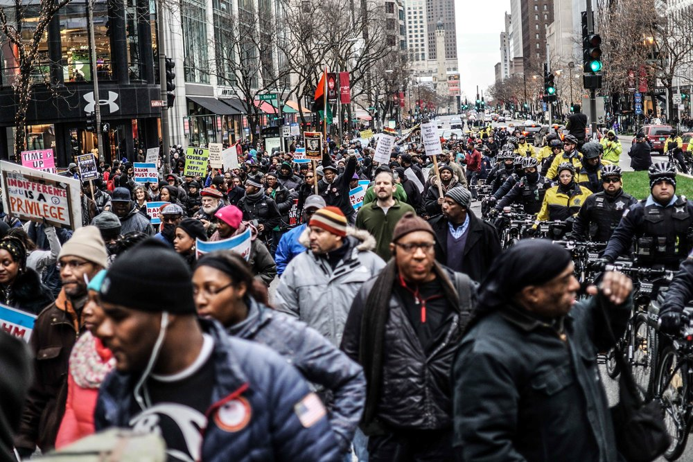 Laquan Mcdonald Protest Resign Rahm Christmas Eve December 2015 5.jpg