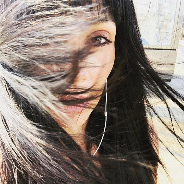 When the wind and the light hit you and your new bangs just right!