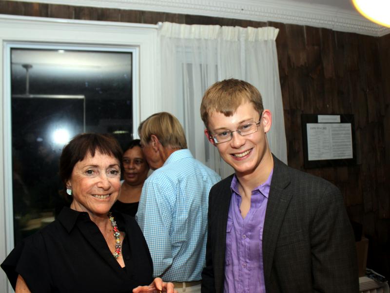 Miles Walter with Pianofest board member Ana Daniel