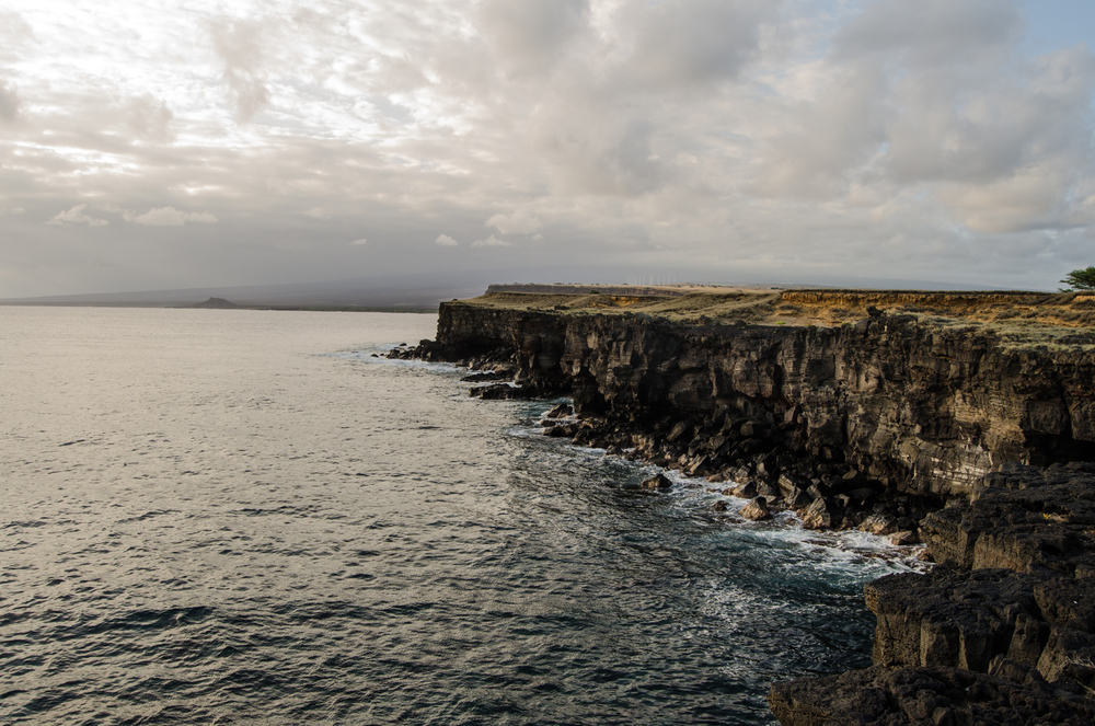 South Point, Big Island- Hawaii- a common cliff jumping destination.
