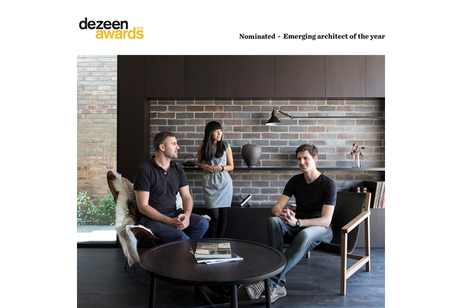 studioplusthree is nominated amongst 20 international practices for the 2018 Dezeen Awards  Emerging architect of the Year
