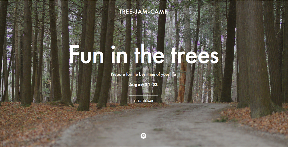 Web Design Tree Jam Camp
