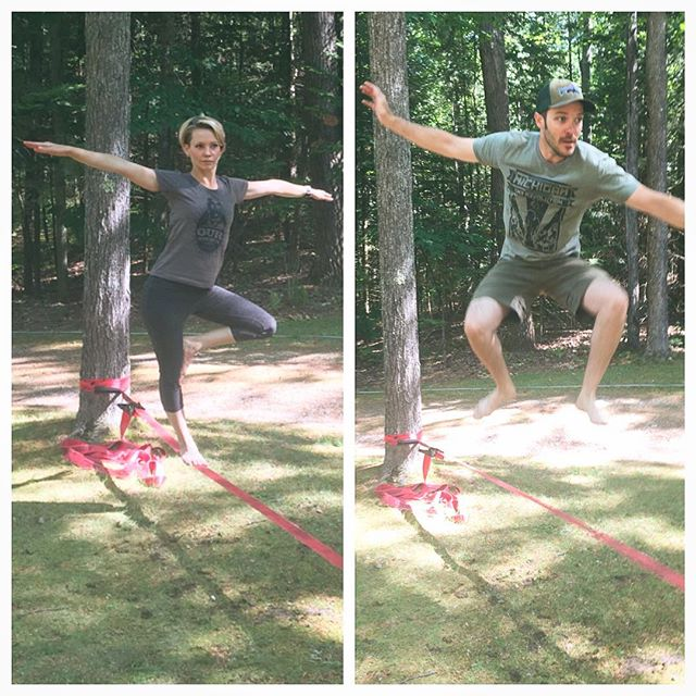 #findbalance in your life Happy #independence day!!! #slackline #treepose #yoga #jumparound #slacklife