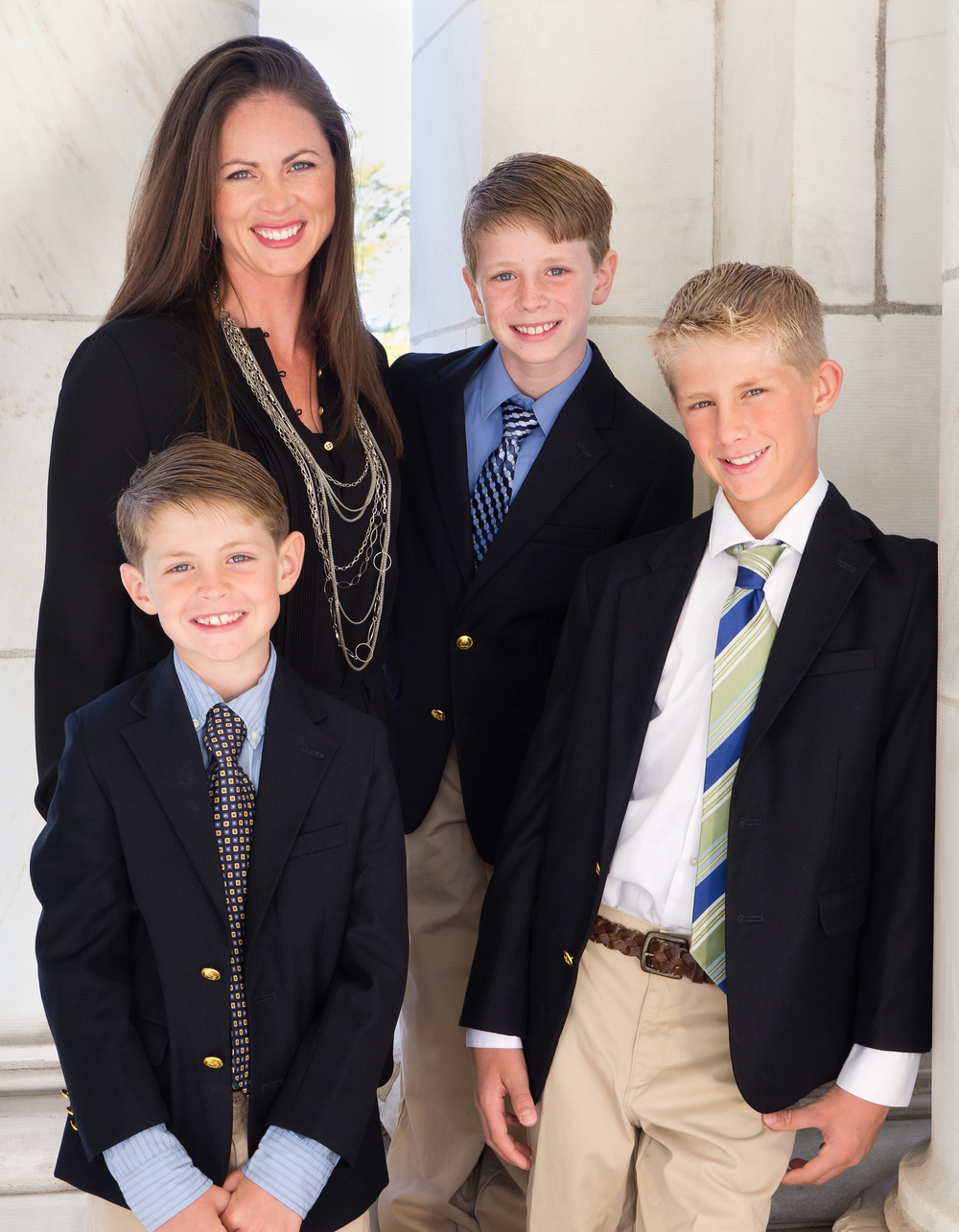 Gina Fratarcangeli and her boys Tyler (2005), Max (2003) and AJ (2001)