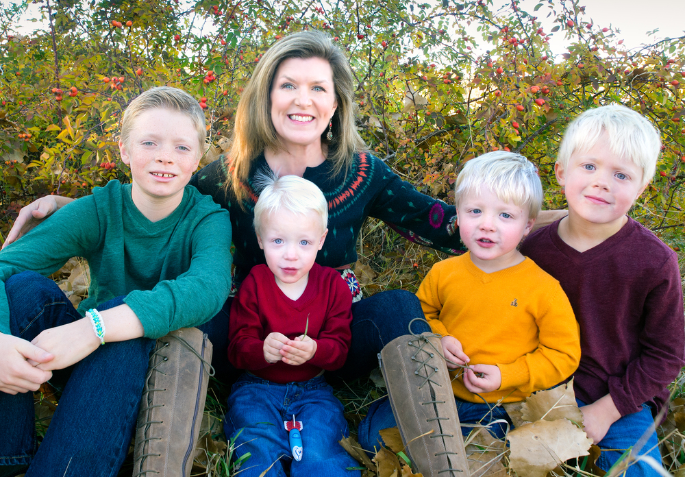Tracy Simonton and Zachary (2002), Nathaniel (2010), Ethan (2010) and Caleb (2007)