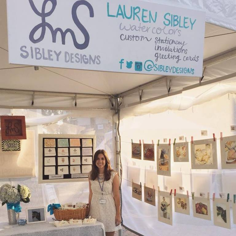 Lauren's first Big Easel show in 2015.