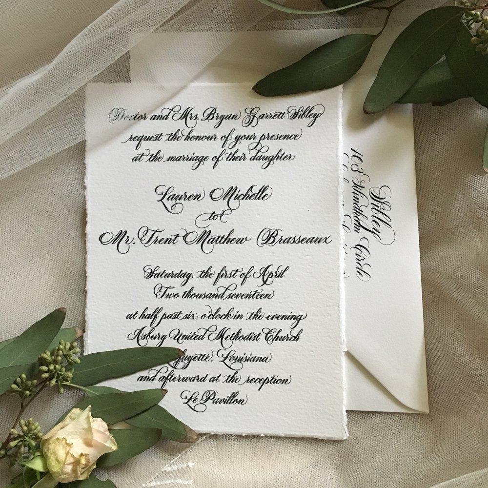 Lauren's Wedding Invitation