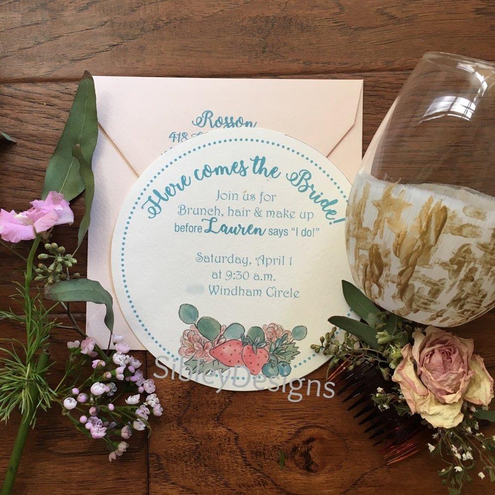 Lauren's brunch invitation
