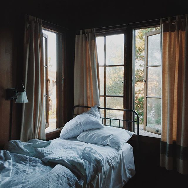 The bed's a little snug, but waking up to cypress views? So nice.