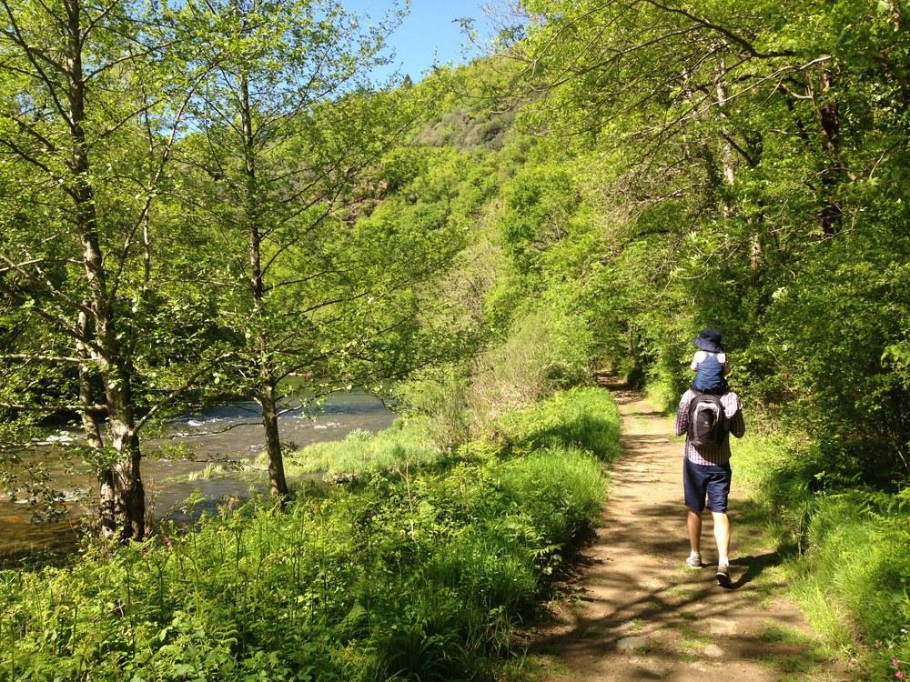 Bushwalking with the occasional shoulder ride or piggy-back