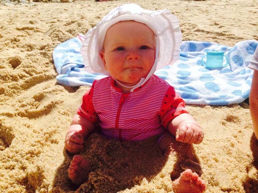 Because sand: Hazel waist deep