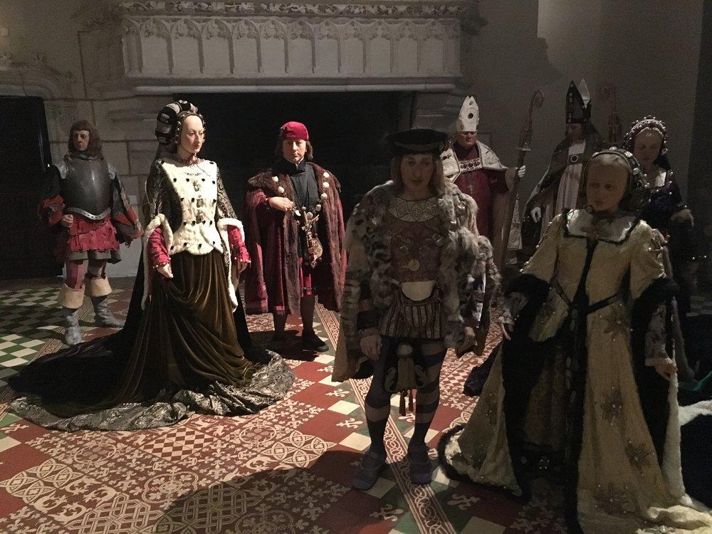 Medieval wedding scene