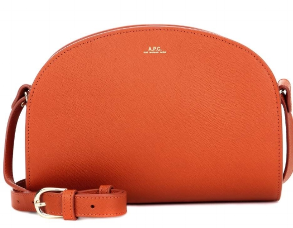 The APC 'half-moon' bag has a cult following. Grained leather is a pleasure . This one from mytheresa.com.