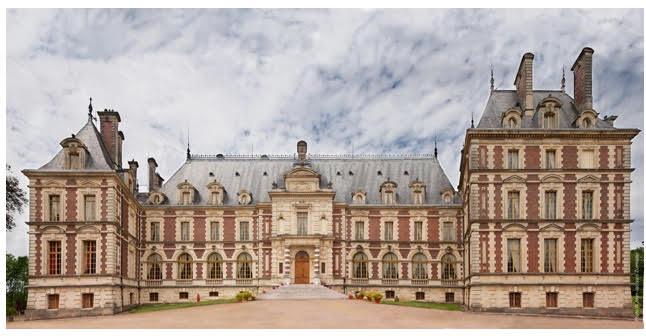 Castle Villersexel has a very long corridor
