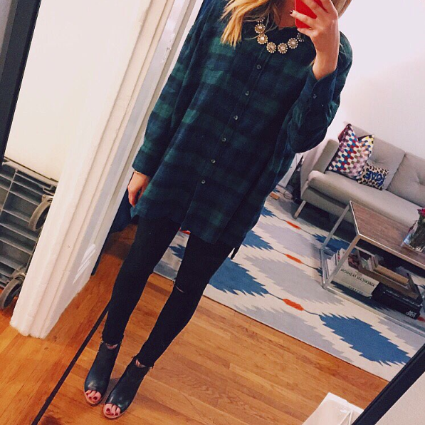 FLANNEL TOP   |   JEANS   |   BOOTIES   |   NECKLACE   (SIMILAR)
