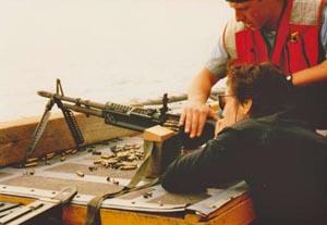 Sara on the USS Tripoli
