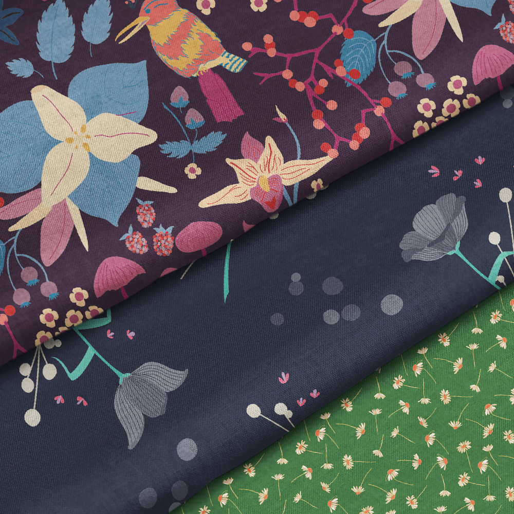 Spoonflower Variety of fabrics, wall coverings, gift wrap, and more, printed sustainable in the USA