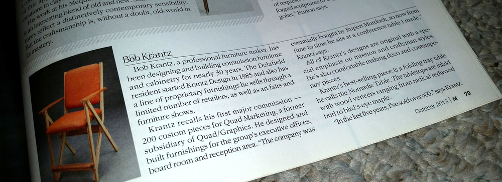 Krantz Design featured in Milwaukee Magazine