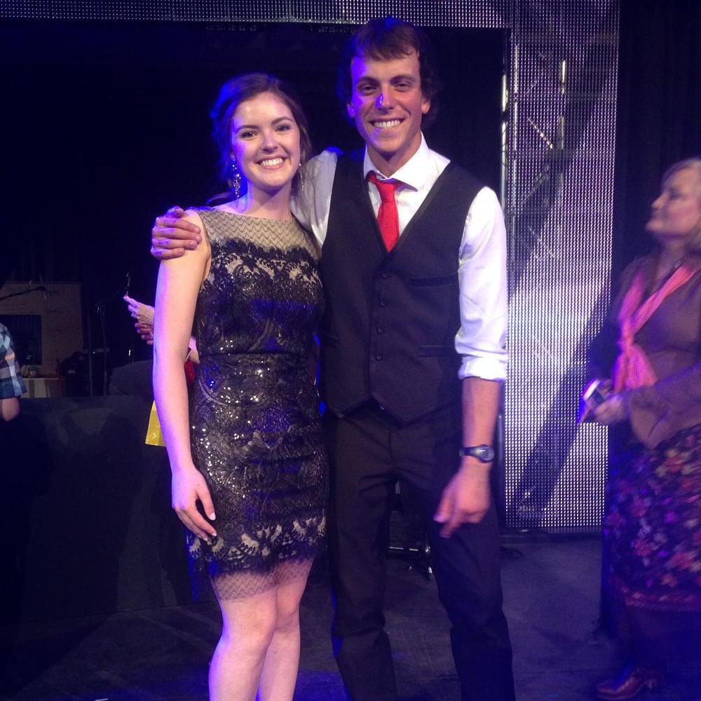 The winner and first runner up for Stampede Talent Search 2015. Our team members Christian Hudson and Emma Rose.