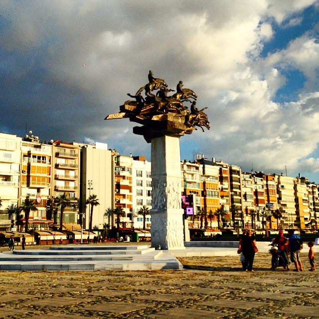 Independence Monument in #Izmir #turkey #evening #sunlight #statue #horses #beautiful #smyrna #history