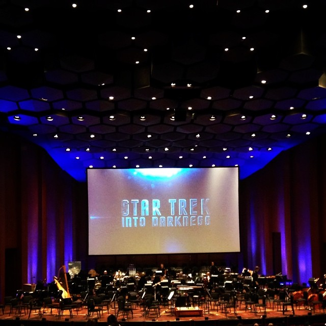 At the Star Trek Into the Darkness #symphony #houston #texas #perfect Saturday evening #trekkie  (at Jones Hall)