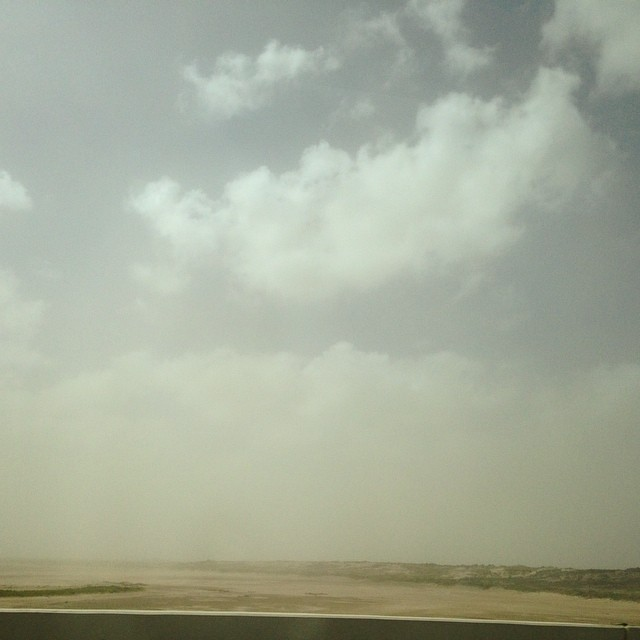 A small sandstorm #spi #southpadreisland #texas  (at South Island Padre)