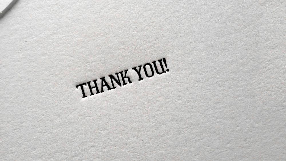 EPHEMERA: THANK YOU BOOKLET