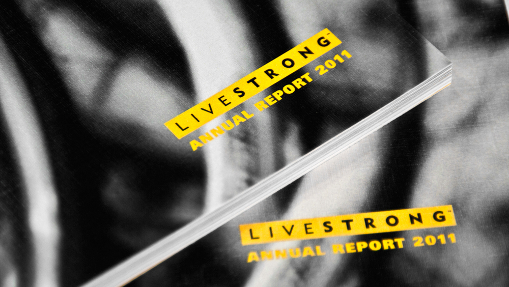LIVESTRONG - award winning annual report design