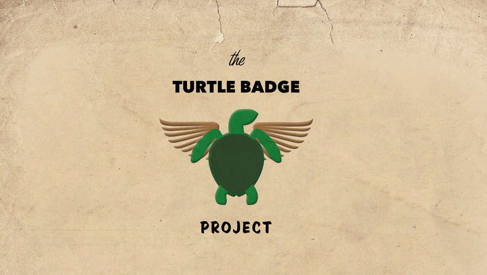 DISNEY'S PIXAR'S SEA TURTLE BADGES - digital illustration design