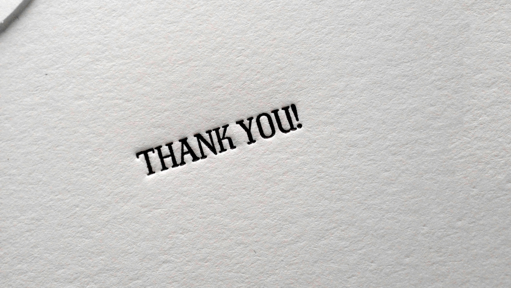 EPHEMERA: THANK YOU NOTE