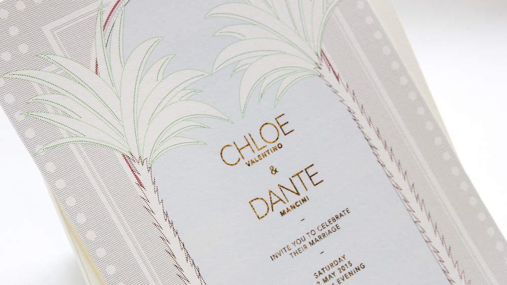 EPHEMERA:CHLOE & DANTE'S WEDDING
