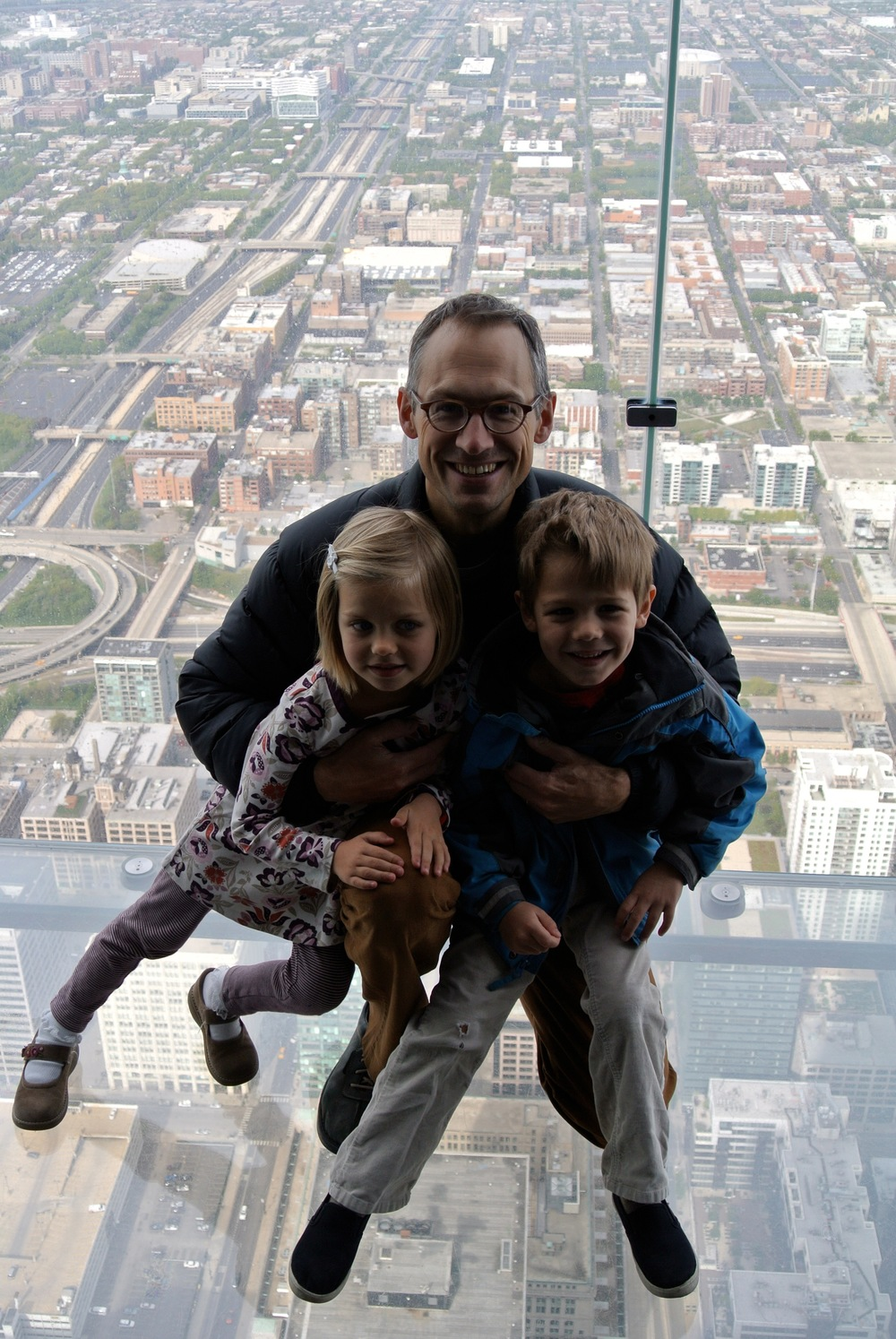 Being a stay-at-home dad is serious business, even 1500 feet above Chicago.