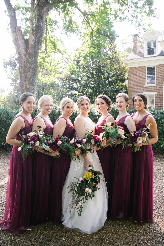 Bridesmaids bouquets, bouquet, jewel tones,