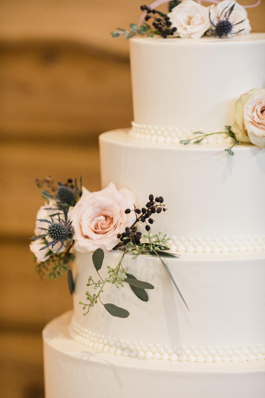 Wedding cake flowers, thistle, privet, eucalyptus,  nashville florist