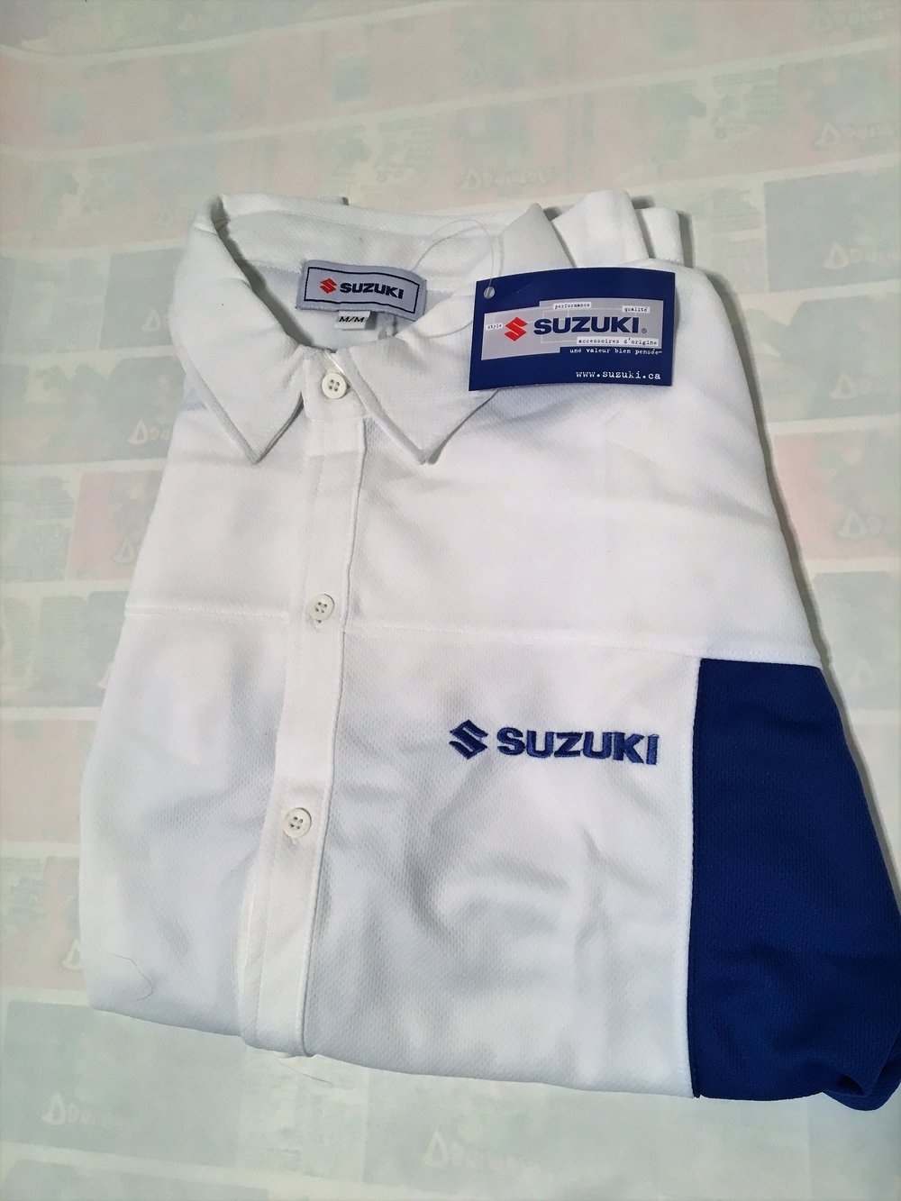 Suzuki S/S Button Up $10